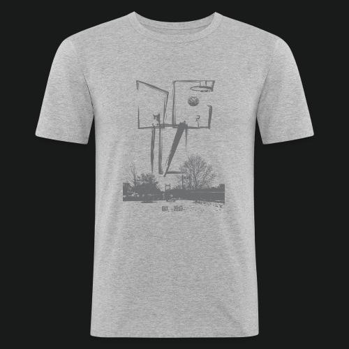 graues Slim Fit T-Shirt - Männer Slim Fit T-Shirt