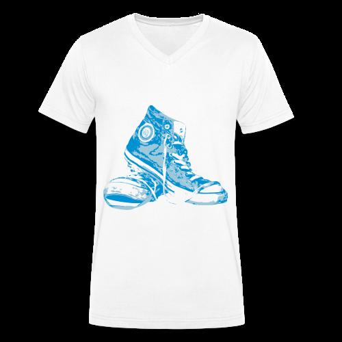 SNEAKERS BLUE - Männer Bio-T-Shirt mit V-Ausschnitt von Stanley & Stella