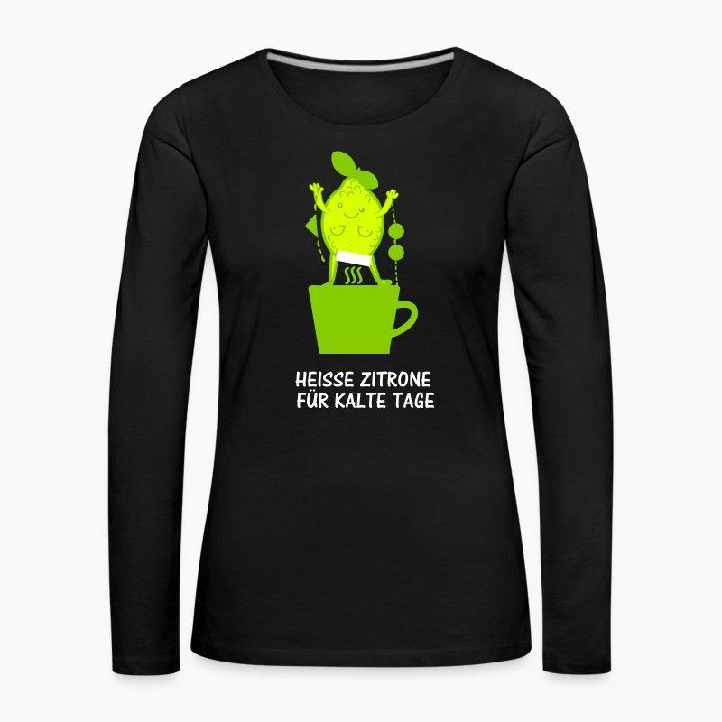 heisse zitrone langarmshirt spreadshirt. Black Bedroom Furniture Sets. Home Design Ideas
