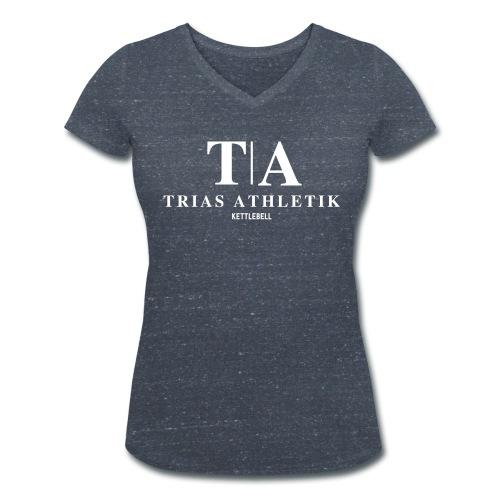 V wie Victory  - Frauen Bio-T-Shirt mit V-Ausschnitt von Stanley & Stella