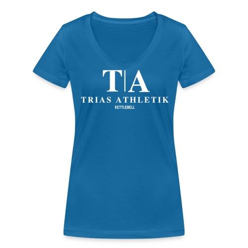 V wie Victory im Ausschnitt - Frauen Bio-T-Shirt mit V-Ausschnitt von Stanley & Stella