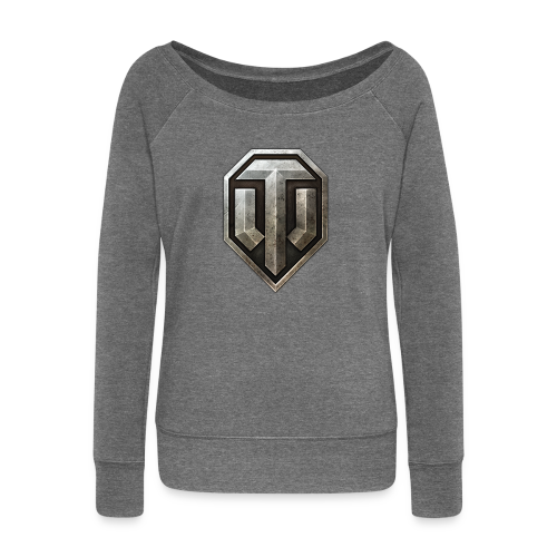 World of Tanks Logo, Women Collection - Women's Boat Neck Long Sleeve Top