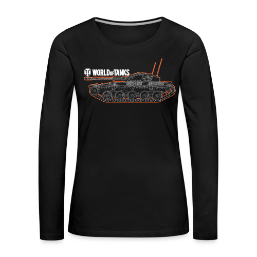 World of Tanks - Orange Outline Tank, Women Collection - Women's Premium Longsleeve Shirt