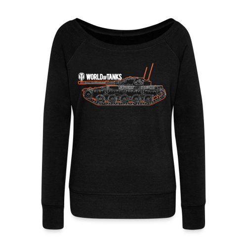 World of Tanks - Orange Outline Tank, Women Collection - Women's Boat Neck Long Sleeve Top