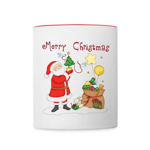 Taza Navidad de Santa Claus - Taza en dos colores