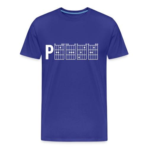 P.E.A.C.E. - White Print - Mens Premium T-Shirt - Men's Premium T-Shirt