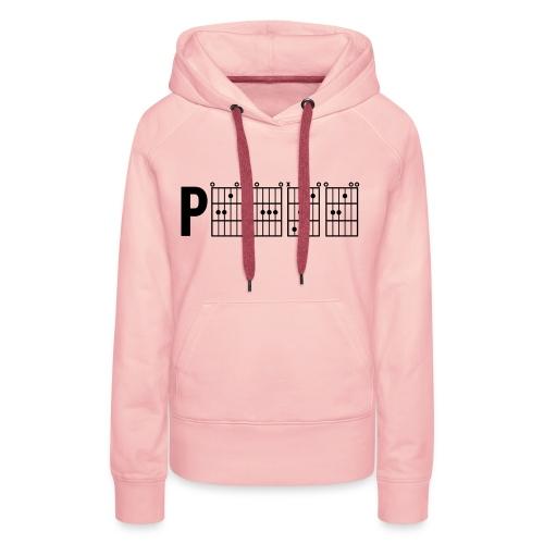 P.E.A.C.E. - Black Print - Women's Premium Hoodie - Women's Premium Hoodie