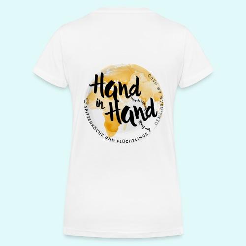 Kochen verbindet Welten ... - Frauen Bio-T-Shirt mit V-Ausschnitt von Stanley & Stella