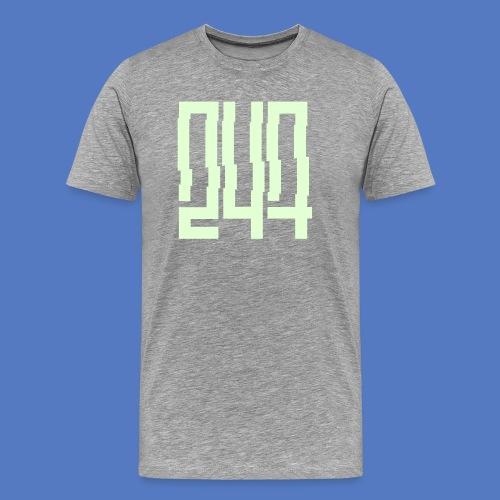 247GLITCH T-Shirt/ Glow in the dark - Männer Premium T-Shirt
