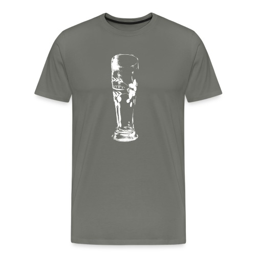 Weizenglas Weiss - Männer Premium T-Shirt
