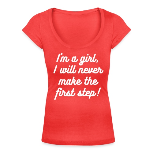 I'm a girl… - Women's Scoop Neck T-Shirt