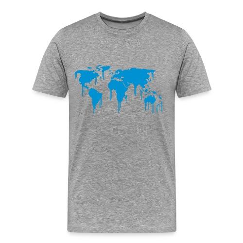 Weltkarte Graffiti - Männer Premium T-Shirt