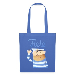 'Hello' Fiete Shopping Bag - blue - Stoffbeutel