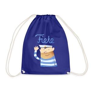 'Hello' Fiete Sports Bag - blue - Turnbeutel