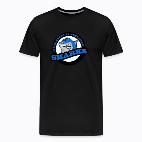 Sharks Cheerleader Böblingen Männer T-Shirt Rundhals Logo groß - Männer Premium T-Shirt