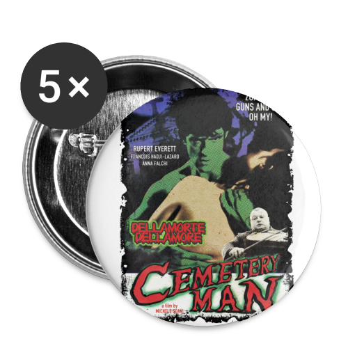 CEMETERY MAN - Buttons groß 56 mm - Buttons groß 56 mm (5er Pack)