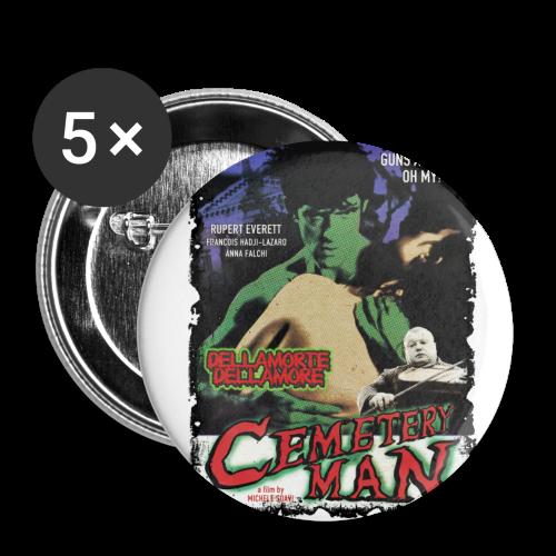 CEMETERY MAN - Buttons mittel 32 mm - Buttons mittel 32 mm (5er Pack)