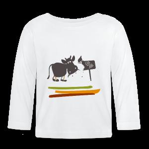 Langarmshirt mit Kuh Erika - Baby Langarmshirt