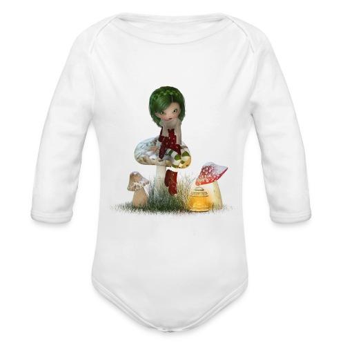 Winter Green - Baby Bio-Langarm-Body