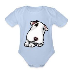 EBT Puppy Head Tilt  - Organic Short-sleeved Baby Bodysuit