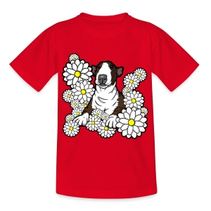 Bull Terrier Daisies - Kids' T-Shirt