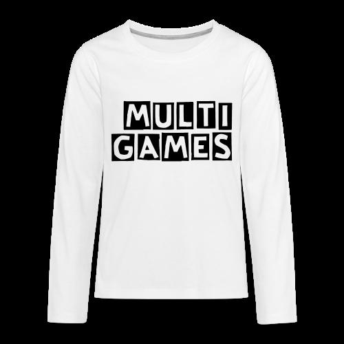Kinderen lange mouwen shirt Multi Games zwart - Teenager Premium shirt met lange mouwen