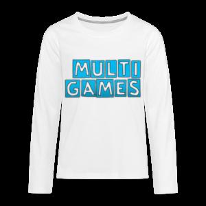 Kinderen lange mouwen shirt Multi Games blauw - Teenager Premium shirt met lange mouwen