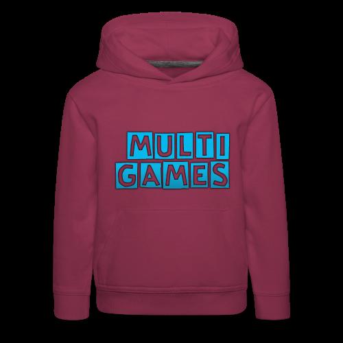 Kinderen hoodie Multi Games blauw - Kinderen trui Premium met capuchon