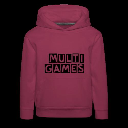 Kinderen hoodie Multi Games zwart - Kinderen trui Premium met capuchon