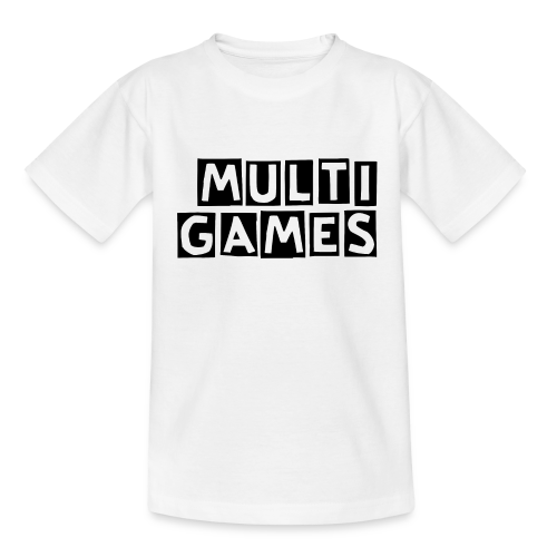 Kinderen t-shirt Multi Games zwart - Teenager T-shirt