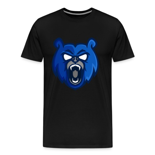 Mens Blue Mascot Logo T-Shirt - Men's Premium T-Shirt