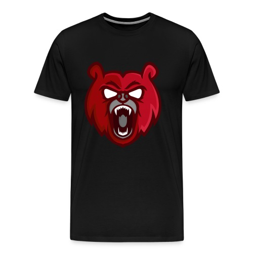 Mens Red Mascot Logo T-Shirt - Men's Premium T-Shirt