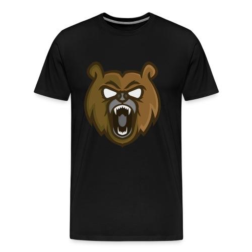 Mens Brown Mascot Logo T-Shirt - Men's Premium T-Shirt