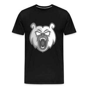 Mens White Mascot Logo T-Shirt - Men's Premium T-Shirt