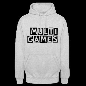Volwassenen unisex hoodie Multi Games zwart - Hoodie unisex