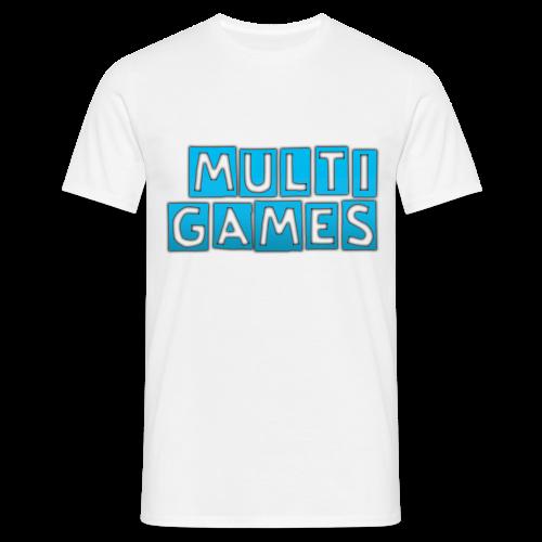 Mannen t-shirt Multi Games blauw - Mannen T-shirt