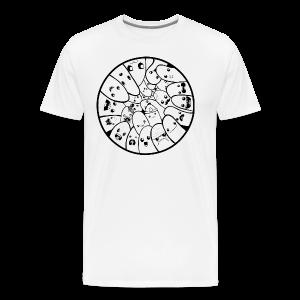 Doodle Fingers - Herre premium T-shirt - Herre premium T-shirt