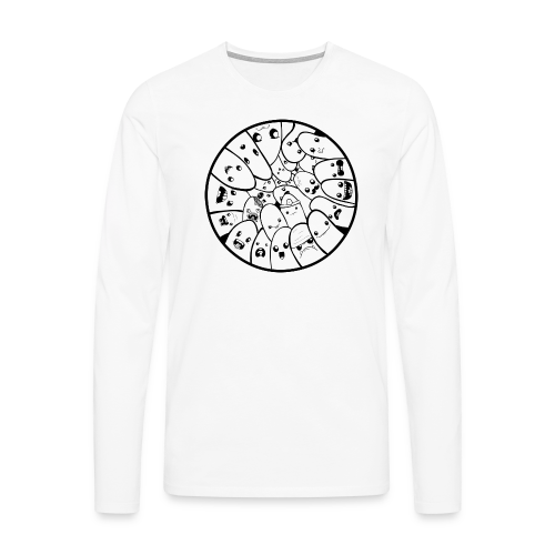 Doodle Fingers - Herre premium T-shirt - Herre premium T-shirt med lange ærmer