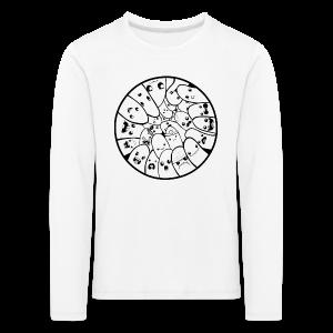 Doodle Fingers - Børne premium T-shirt - Børne premium T-shirt med lange ærmer