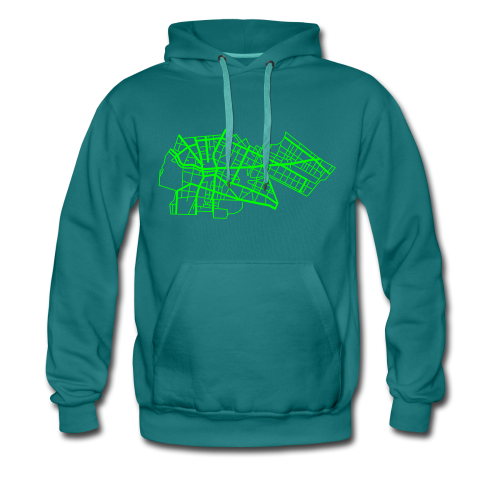 Berlin Kreuzberg (neon-grün) - Männer Premium Hoodie