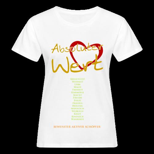 Absoluter Wert + Aspekte -Woman - Frauen Bio-T-Shirt
