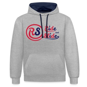 Sweat-shirt gris RS red n blue - Sweat-shirt contraste