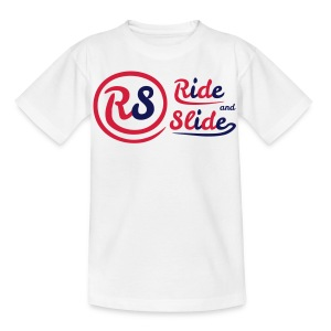 T-shirt white RS red n blue kids - T-shirt Enfant
