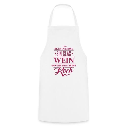 Weinglas Rezept Koch Küche Dinner Gäste Rotwein - Cooking Apron