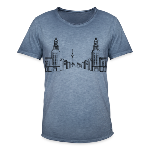 Frankfurter Tor Berlin Friedrichshain  - Männer Vintage T-Shirt