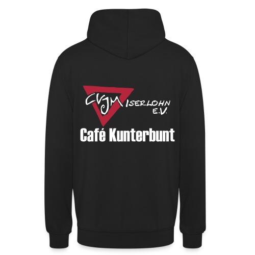 Hoodie mit Café Kunterbunt Logo hinten - Unisex Hoodie