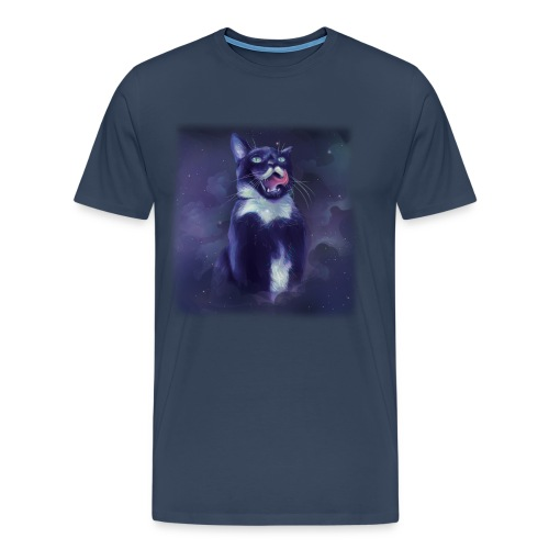 Stalin the Cat Galaxy Men's Tee - Men's Premium T-Shirt