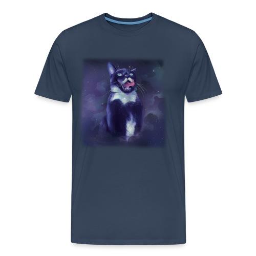 Stalin the Cat Galaxy Men's Tee - Men's Premium T-Shirt