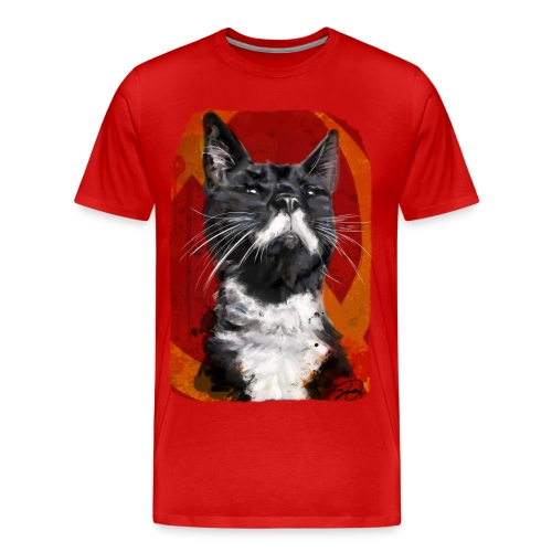 Stalin the Cat USSR Men's Tee - Men's Premium T-Shirt