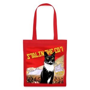 Stalin the Cat Propaganda Bag - Tote Bag